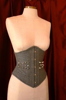Corset Modelo Waist Cincher em tecido de alfaiataria leve 100% lã